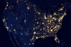 USA at night